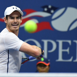 Andy Murray of Scotland returns a shot to Marcel Granollers of Spain on day four of the U.S. Open tennis tournament Thursday at USTA Billie Jean King National Tennis Center in New York.