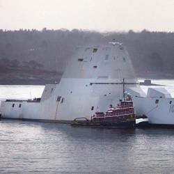 Navy reschedules christening of stealth destroyer USS Zumwalt