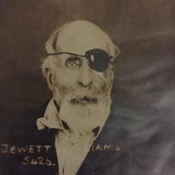 This image of Jewett Williams of Hodgdon, who served with the 20th Maine Volunteer Infantry Regiment during the Civil War, was taken circa April 1922 when he was admitted because of senility to the Oregon State Hospital in Salem, Oregon, where he died later that year at the age of 78.