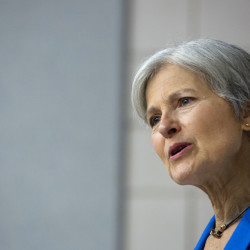 Green Party presidential candidate Jill Stein talks to students and members of the community at the D.P. Corbett Business building on the University of Maine campus in Orono on Wednesday.