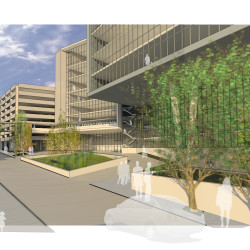 An artist's rendering of the planned expansion to Maine Medical Center.