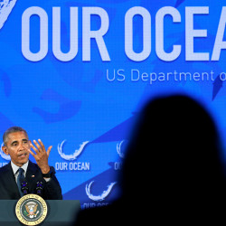 President Barack Obama speaks at the Our Ocean Conference at the State Department in Washington, D.C., Thursday.