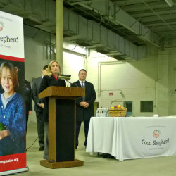 Kristen Miale, executive director of Good Shepherd Food Bank of Maine, talks about how the organization's new 40,000-square-foot facility in Hampden will help ensure healthy vegetables and produce make it to the tables of hungry Mainers in this November 2015 file photo.