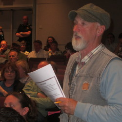 Rockland resident Stephen Carroll speaks during a district meeting in this May 2015 file photo.