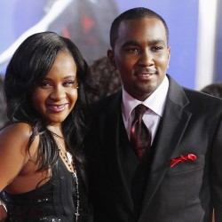 "Bobbi Kristina Brown, daughter of the late singer Whitney Houston, and boyfriend Nick Gordon arrive at the premiere of ""Sparkle"" in Hollywood, California, Aug. 16, 2012."