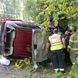 "A 48-year-old woman from Casco suffered ""serious traumatic injuries"" after her car crashed on Route 11 in Naples Saturday afternoon."