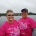 Linda Bean (left) and her daughter, Melissa Jones, both of Corinth, were among dozens of breast cancer survivors who took part in this year's Susan G. Komen Race for the Cure event in Bangor on Sunday.