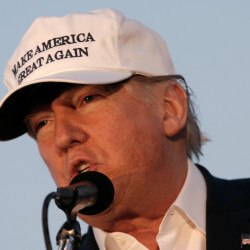 Republican presidential nominee Donald Trump speaks at a campaign stop in Colorado Springs, Colorado, Sept. 17, 2016. Trump rose to the top of the Republican ticket with his message about America's perceived decline and his promise to make America great again.
