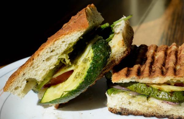 Vegetarian panini at Fork & Spoon on Main Street in Bangor.