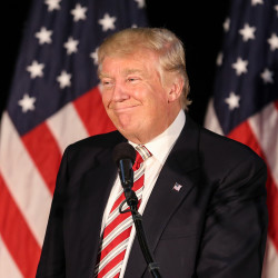 Republican presidential nominee Donald Trump during a campaign stop on Sept. 13, 2016 in Aston, Pennsylvania.