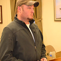 Wiscasset Fire Chief T.J. Merry addresses the Wiscasset Board of Selectmen on Tuesday, April 5 regarding the town''s decision to bar volunteer firefighters from washing their personal vehicles at the fire station.