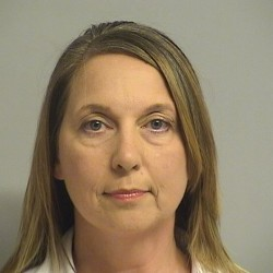 Tulsa, Oklahoma, police Officer Betty Shelby, 42, charged with first-degree manslaughter in the death of 40-year-old Terence Crutcher, is shown in this Tulsa County Jail booking photo in Tulsa, Oklahoma, Sept. 23, 2016.
