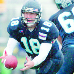 Football quarterback Jake Eaton is among six people who will be inducted into the University of Maine Sports Hall of Fame on Sept. 30 in Orono.