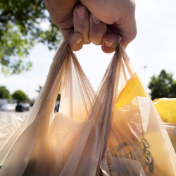 The city of Bangor is exploring either a ban or fee on plastic shopping bags and polystyrene containers.
