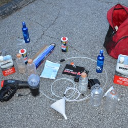The discovery of materials used in methamphetamine manufacturing led to the arrest of an Ellsworth man on a felony drug charge on Monday. The items were allegedly found in his possession as he emerged from the woods near the Ellsworth motel at which he was staying.