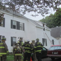 Rockland, Camden and Rockport firefighters responded Wednesday morning to a fire at a three-unit apartment building on Gay Street in Rockland.
