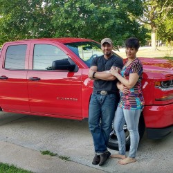 State and Fairfield police are asking for the public's help in locating Valerie Tieman, 34, of Fairfield, who has been missing since Aug. 30. She is shown in the photo with her husband, Luc Tieman, taken in July in front on the truck she reportedly disappeared from.