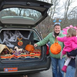 Trunk or Treat fun at Vose Library