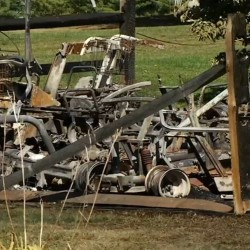 Twenty golf carts were destroyed in the fire.