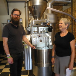 "Susanne Ward, owner of Rock City Coffee Roasters and Rock City Cafe, is looking forward to transitioning the company's business model to that of an employee-owned cooperative. Kevin Malmstrom, the head coffee roaster, will be one of the owners when the transition is complete by the end of this year or the beginning of 2017. ""I feel really good about it,"" Ward said. ""I think it's the best solution I can come up with."""