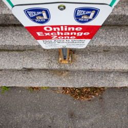 The Rockland Police Department has designed two locations in the city as safe online exchange zones for people buying or selling items over the internet. One is the parking lot of the police station off Park Drive.
