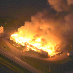 Jim Crane took this photo of the fire from a plane.