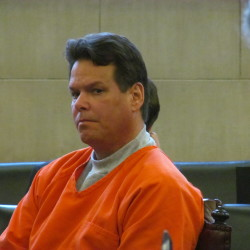Dennis Dechaine, who is serving a life sentence in Maine State Prison for the 1988 murder of Sarah Cherry in Bowdoin, appears in Cumberland County Superior Court on November 7, 2013.