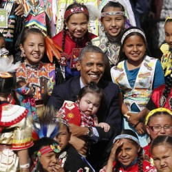 President Barack Obama made his first trip to a Native American reservation in 2014 when he visited the Standing Rock Sioux in North Dakota.