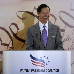 Founder and Chairman of the Faith and Freedom Coalition, Ralph Reed, addresses the Road to Majority Conference Kickoff Luncheon in Washington, June 13, 2013.