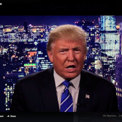 Republican U.S. presidential nominee Donald Trump is seen in a video screengrab as he apologizes for lewd comments he made about women during a statement recorded by his presidential campaign and released via social media after midnight Oct. 8, 2016.