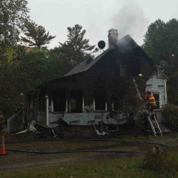 Two people died in this early morning fire Sunday in Boothbay.