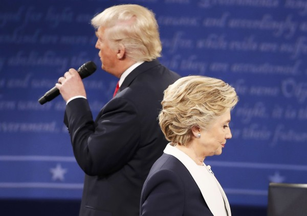 Republican U.S. presidential nominee Donald Trump speaks during the presidential town hall debate with Democratic U.S. presidential nominee Hillary Clinton at Washington University in St. Louis, Missouri, Oct. 9, 2016.