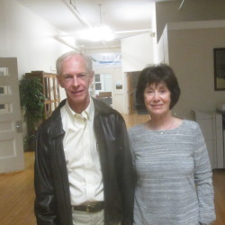 Beverly and David Worthington, who have established an annual gift of scholarships for any Oceanside High School graduate who maintains strong grades, can be seen recently in Rockland.