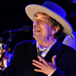 U.S. musician Bob Dylan performs during on day 2 of The Hop Festival in Paddock Wood, Kent on June 30th 2012.
