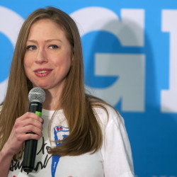 Chelsea Clinton talks to members of the community at Wells Conference Center at the University of Maine in Orono Thursday. Clinton made a stop in Orono to campaign for her mom, U.S. Democratic presidential nominee Hillary Clinton.