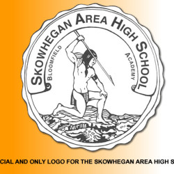 Official logo of Skowhegan High School featuring Indian figure.