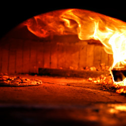 Wood fired sourdough Neapolitan pizza at Meanwhile in Belfast.