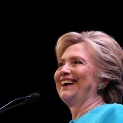 Democratic presidential nominee Hillary Clinton speaks at a fundraiser in Seattle, Washington, Oct. 14, 2016.