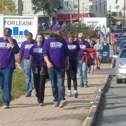 An estimated 800 people took part in Saturday's walk to end Alzheimer's disease in Bangor and Brewer.