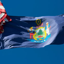 File photo of the Maine state flag.
