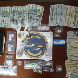 Two people have been charged with felony drug trafficking following a drug bust on Lubec on Oct. 12. According to Maine Drug Enforcement Agency, police seized heroin and cocaine with a total estimated street value of $15,000 and nearly $5,000 in cash believed to used to buy drugs during the bust.