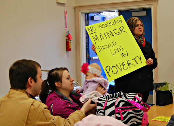 Caption Question 4 on the November ballot asks if voters want to gradually raise Maine's minimum wage to $12 per hour.