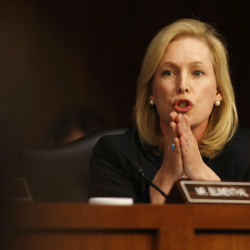 U.S. Sen. Kirsten Gillibrand, D-New York, speaks about pending legislation regarding sexual assaults in the military at a Senate Armed Services Committee on Capitol Hill in Washington, June 4, 2013.