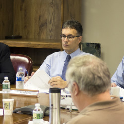 Loring Development Authority President Carl Flora President Carl Flora (right) said during a Wednesday board meeting in Limestone that reports from a meeting between Gov. Paul LePage's delegation and the Massachusetts Bay Transportation Authority had a positive outcome.