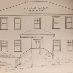 An informal sketch submitted by Harbor Line Capital LLC shows redevelopment plans for a Bath home that previously housed a methamphetamine lab.