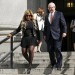 New York financier Lynn Tilton leaves the U.S. District courthouse with her attorney in New York last year.