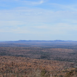 Looking north from the top of Number Nine Mountain, 8 miles west of Bridgewater. EDP Renewables proposed expanding its 119-turbine Number Nine Wind Farm project in a bid to southern New England states seeking to contract for renewable power generation. Only a company that proposed five solar projects, including two in Maine, made the final cut.