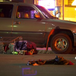A pedestrian was killed after he was struck crossing Hammond Street in downtown Bangor in May 2015.