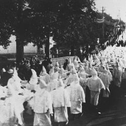 Klan procession in Portland, ca. 1923, courtesy of the Maine Historical Society.