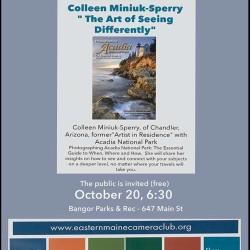 Guest Speaker Collleen Miniuk-Sperry to speak at Eastern Maine Camera Club Meeting